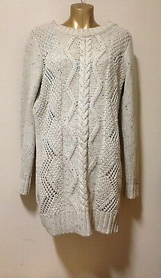 Sportsgirl cable knit sweater jumper long ladies size L