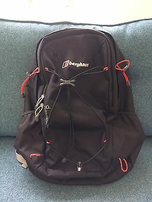 Berghaus Black Rucksack 30L 24/7 Backpack Showerproof Camping Hiking School NEW