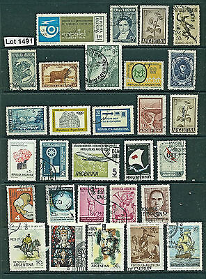Lot 1491..ARGENTINA..selection of 29 mint and used stamps from various years
