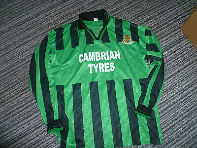 ABERYSTWYTH TOWN FC Football Shirt - Players - NO.9 Size L Large