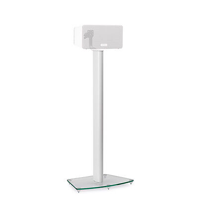 Alphason AS3003W Floorstand / Speaker Stand for SONOS Play:3 (White) Glass Base