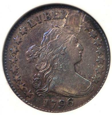 1796 Draped Bust Dime 10C - Certified ANACS VF20 Details - First Dime Minted!