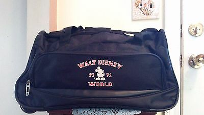 Walt Disney World Mickey Rolling Black Travel Duffle Bag Overnight Carry On-1971