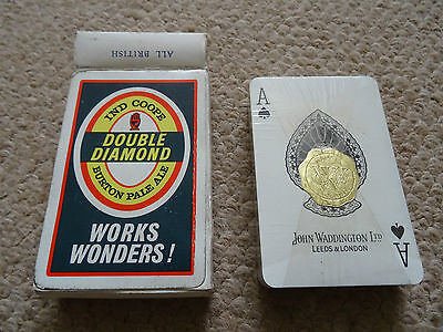 A  Pack 1950S A Double Diamond Works Wonders Playing Cards, Mint +  Boxed