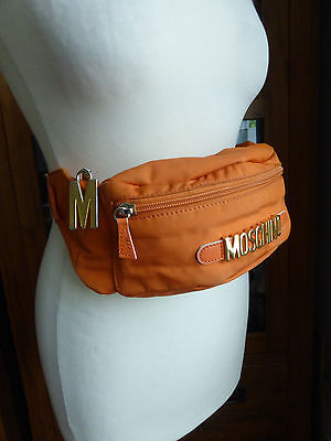 Vintage 80s Moschino orange monogram bum bag fanny pack Redwall bloggers