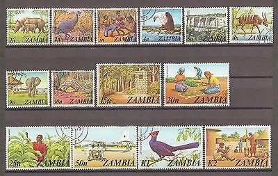 ZAMBIA 1975 226/39 Fine used Cat £17