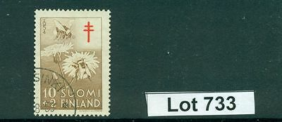 Lot 733..FINLAND..1954 Used Bees and Flowers Semi-Postal Stamp