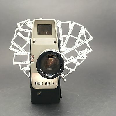 Colour Zoom 8 Super 8 Video Movie Camera F1.8 Zoom Lens Working