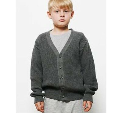 POPUPSHOP Grey Knit Cardigan Jumper SIZE 4-5 BOYS GIRLS