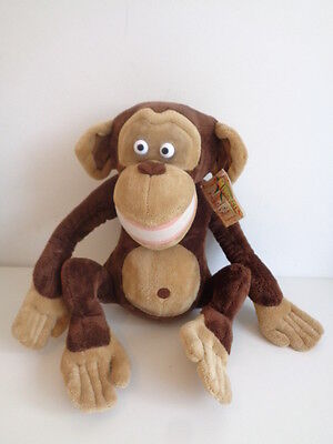 """MADAGASCAR - 17"""" MONKEY SOFT TOY by RUSS BERRIE - WITH TAG"""