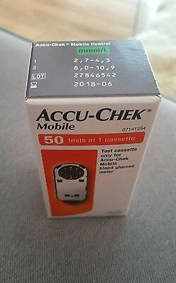 Accu-Chek mobile 50 tests in 1 cassette exp: 06-2018