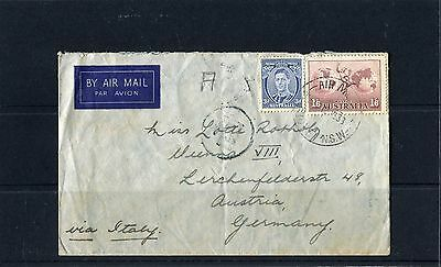 1938 Air Mail Cover 2 Stamps To Germany Via Italy, Good Condition