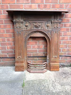 Old Antique Cast Iron Fireplace Victorian/ Edwardian