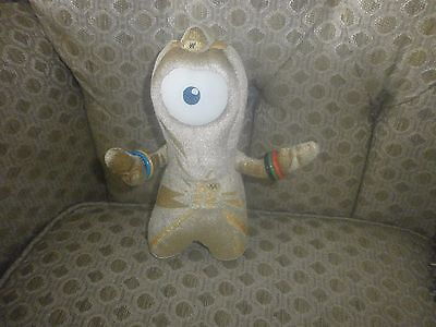 Official London Olympics 2012 Gold Wenlock Plush Soft Toy Mascot Olympic Games