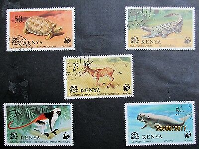 Kenya 5 Stamps Of Endangered Species Of The Wild