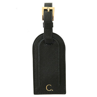 PERSONALISED MONOGRAMMED Genuine Leather Luggage Bag Tag Travel Accessory