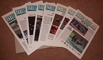 8 x LEYTON HOUSE / MARCH BULLETINS Formula 1 (F1) / Grand Prix 1989-91