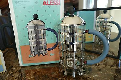 Alessi Cafetiera Press Filter Coffee Maker Infuser M Graves MGPF 8 Cup - New
