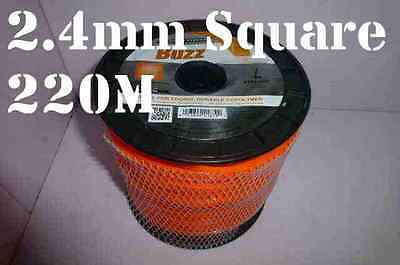 Square Trimmer Line 2.4mm 260m Whipper Snipper Cord Nylon Wire Brushcutter