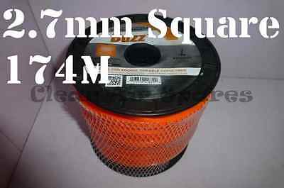 Square Trimmer Line 2.7mm 174m Whipper Snipper Cord Nylon Wire Brushcutter