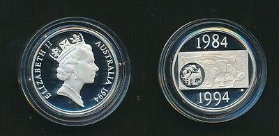 Australia 1994 Silver Decade $1 Proof Cat $45 in it's Capsule Only