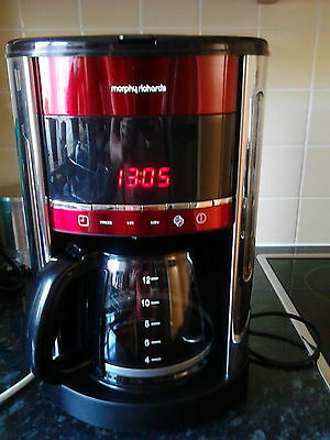 Accents Digital Filter Coffee Maker Red
