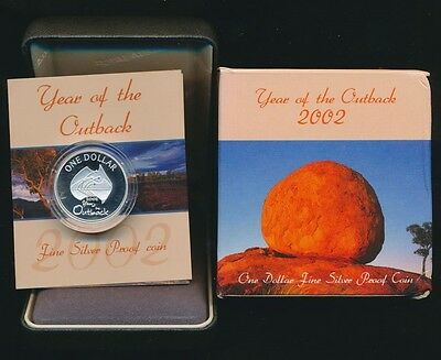 Australia 2002 $1 Silver Proof Year of the Outback Cat $30
