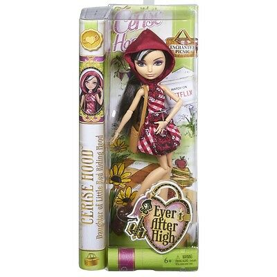 Ever After High Enchanted Picnic Rebel Cerise Hood Doll Brand New Cld85