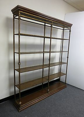 Vintage SPANISH STYLE Wrought Iron BOOKCASE Mid Century Hollywood Regency Shelve