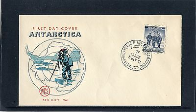 1961 Australian Antarctic Territory 5d Blue Unaddressed FDC, Mint Condition