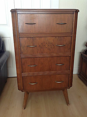 Homeworthy Tall Chest of Drawers Original Retro Vintage 1960s