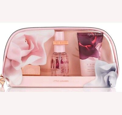 Ted Baker LITTLE LUXURIES Blush Pink Beauty Gift Bag: Lipbalm/Body Spray/Lotion