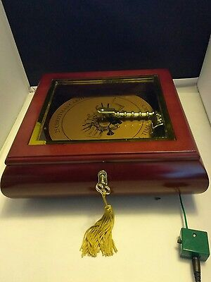 Mr. Christmas Musical  Symphonique Wooden Music Box W/ 50 Songs