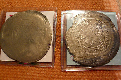 Two 1600s Islamic Large Thin Silver coins.