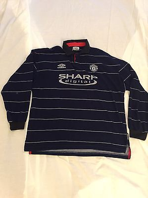 Manchester United Away Shirt 1999/2000 Adults Extra Large (Xl) Long Sleeve