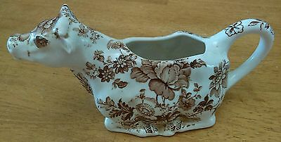 Vintage Country Cow Creamer by Charlotte Royal Crownford Ironstone England