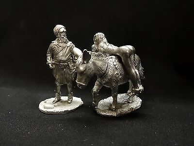 54mm  MEDIEVAL GUY WITH NAKED LADY ON A DONKEY .......metal kit