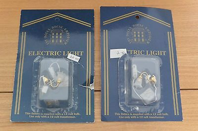 2 x DOLLS HOUSE EMPORIUM TULIP WALL LIGHTS. 12TH SCALE