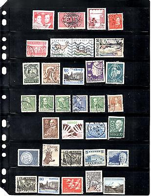 Sweden Used Stamp Collection (Lot 0462)