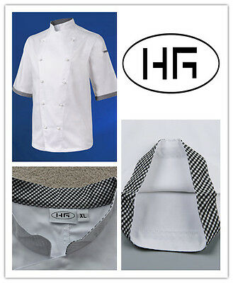 Chef Jacket Short Sleeves Classic Uniform Poly-cotton Hospitality Garments