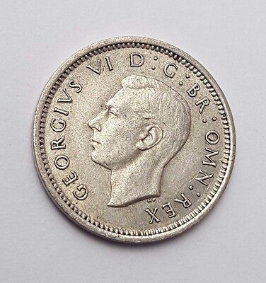 Dated : 1937 - Silver - Threepence / 3d - Coin - King George VI - Great Britain