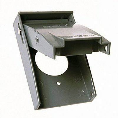 Hubbell-Bell 5026-0 1-Gang Weatherproof Vertical Single Receptacle Device Cover,