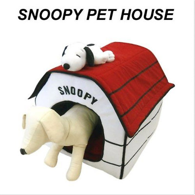 Peanuts Snoopy Indoor Pet Dog Cat House Bed Plush Portable Foldable from Japan