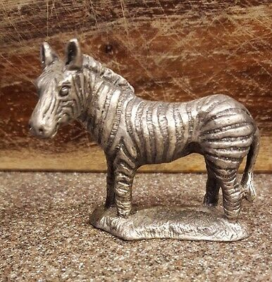 Vintage  - Zebra Figurine -Lead, Pewter, Cast Metal ?