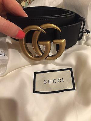 Gucci GG Bloggers 4cm Black Belt Size 85 BNWT SOLD OUT!