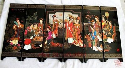 Chinese Boutique collection Lacquer ware painting beauty folding screen NO.2