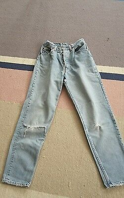 "Ladies Vintage Genuine Levi 501/ 901 High Waisted (26"") Jeans"