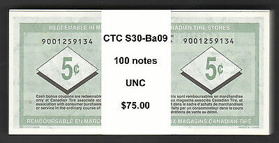 Canadian Tire Money - 100-CTC S30-Ba09 REPLACEMENT notes from 900125... range
