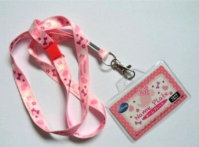 Disney Minnie Mouse Snap Quick Release Lanyard Neck Strap / ID Holder