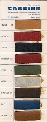 Carrier Bus Coach Coachbuilders Upholstery Samples 1970s French Market Brochure